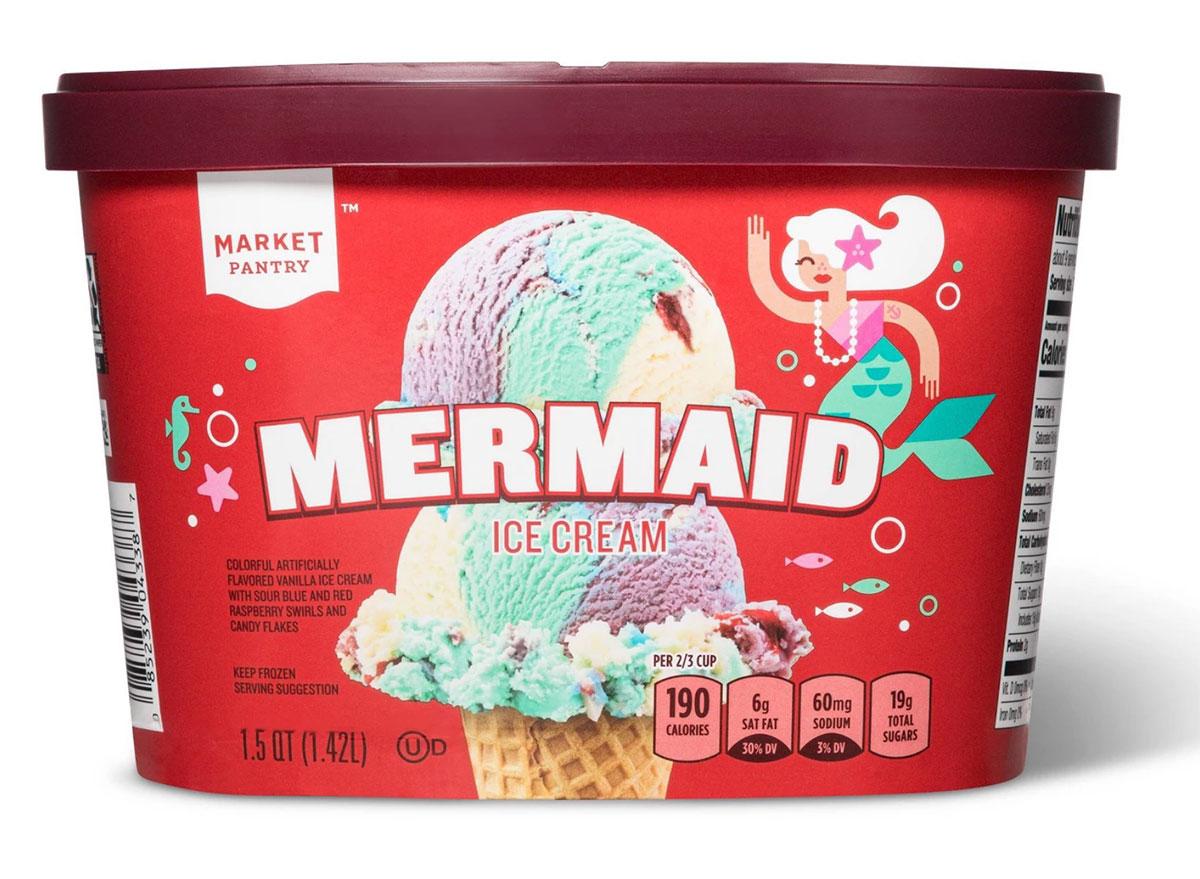 carton of target mermaid ice cream