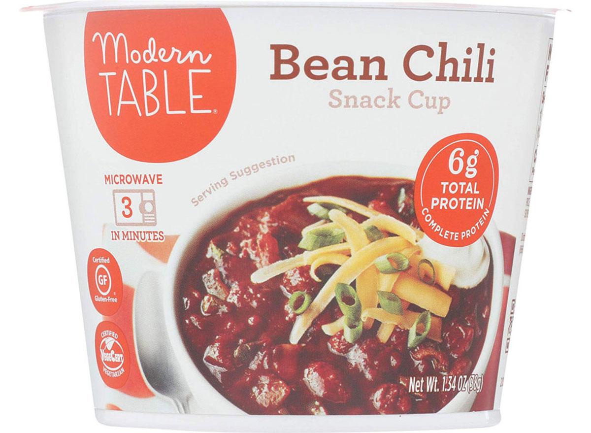 modern table bean chili