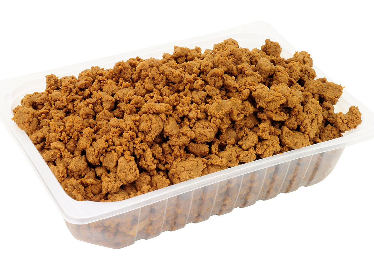 mycroprotein in plastic container