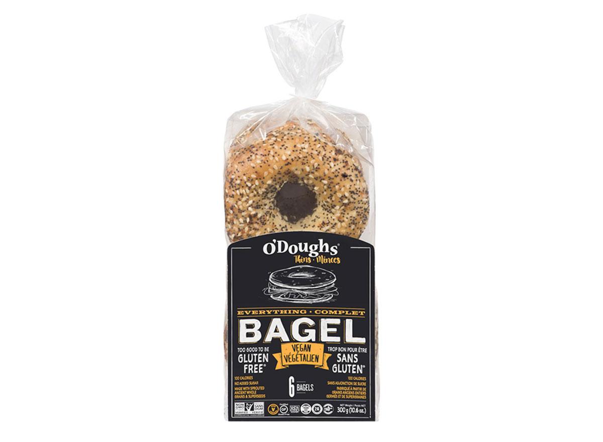 o doughs everything bagel vegan thins bag