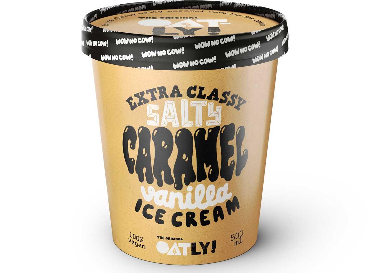 Oatly oat milk salty caramel vanilla ice cream