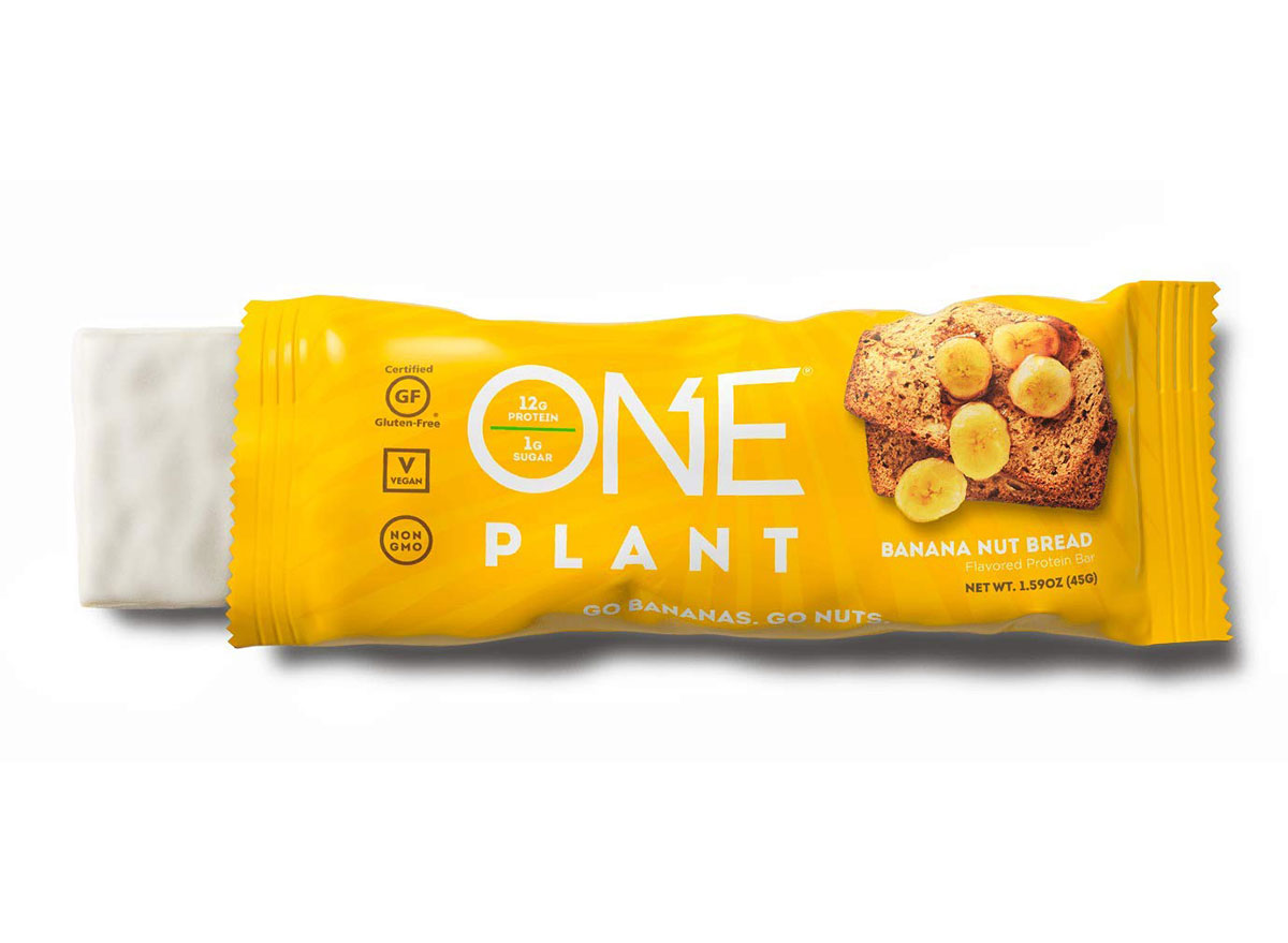 one plant protein bars banana nut bread