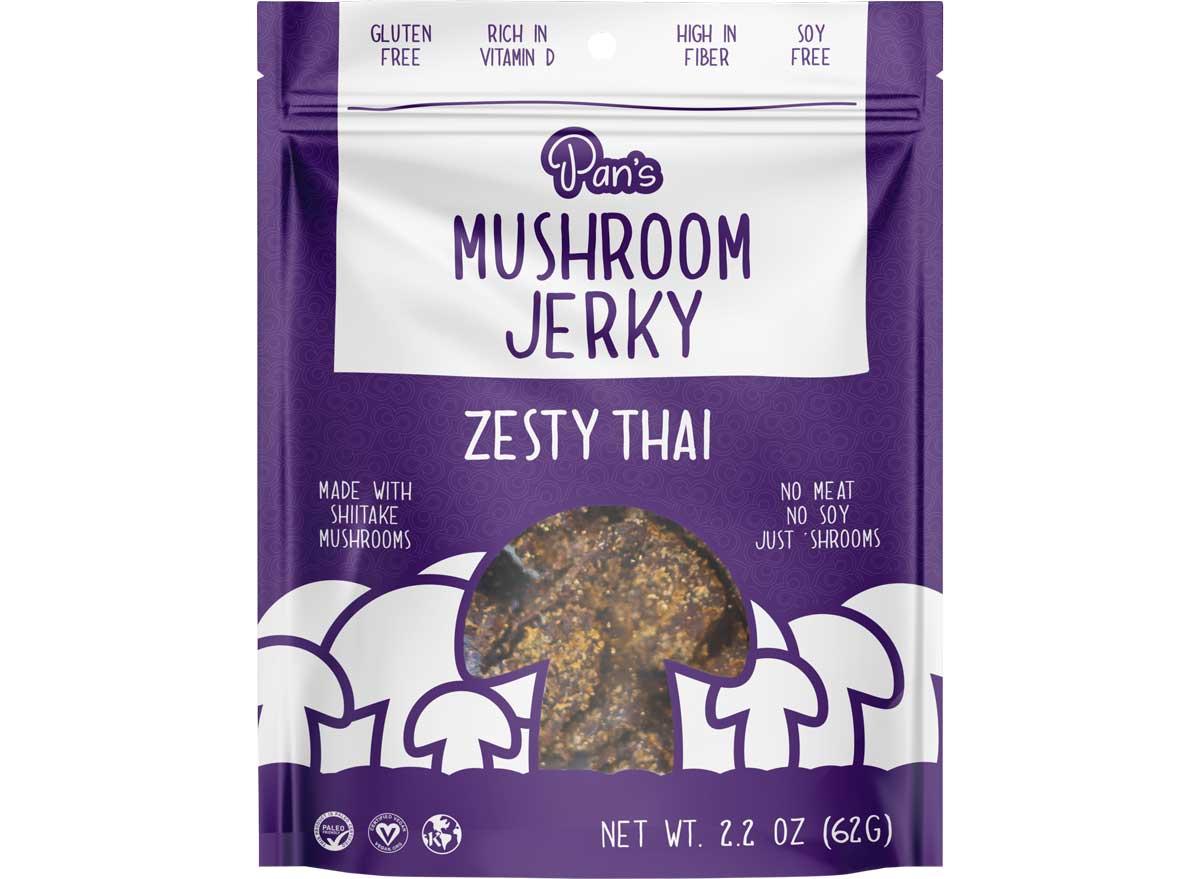 Pans mushroom jerky zesty thai