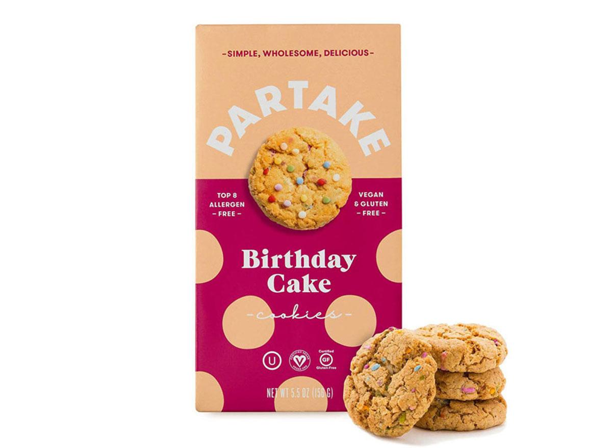 partake birthday cake