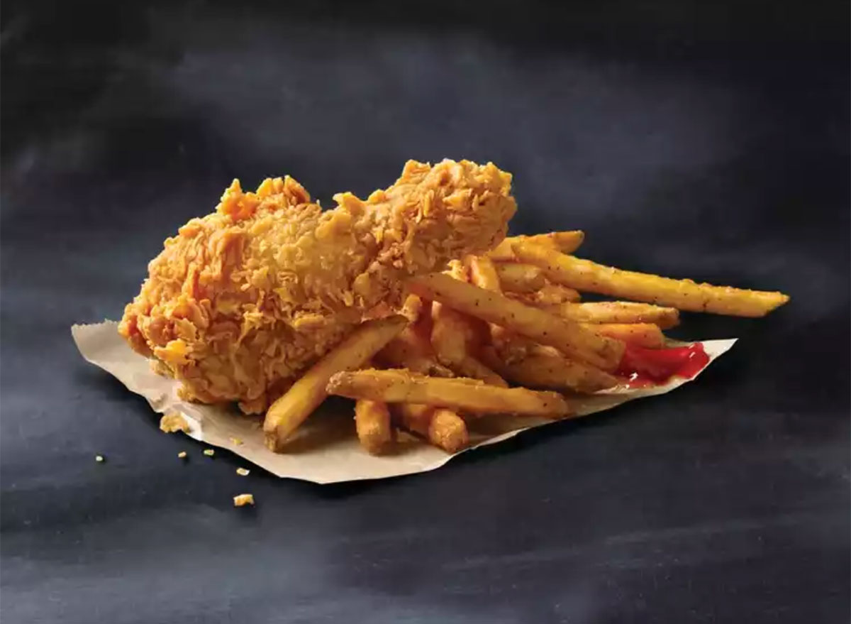 popeyes chicken leg and french fries