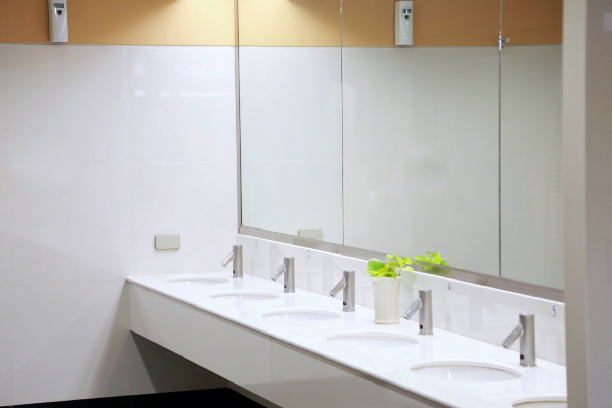 Bathroom in the office