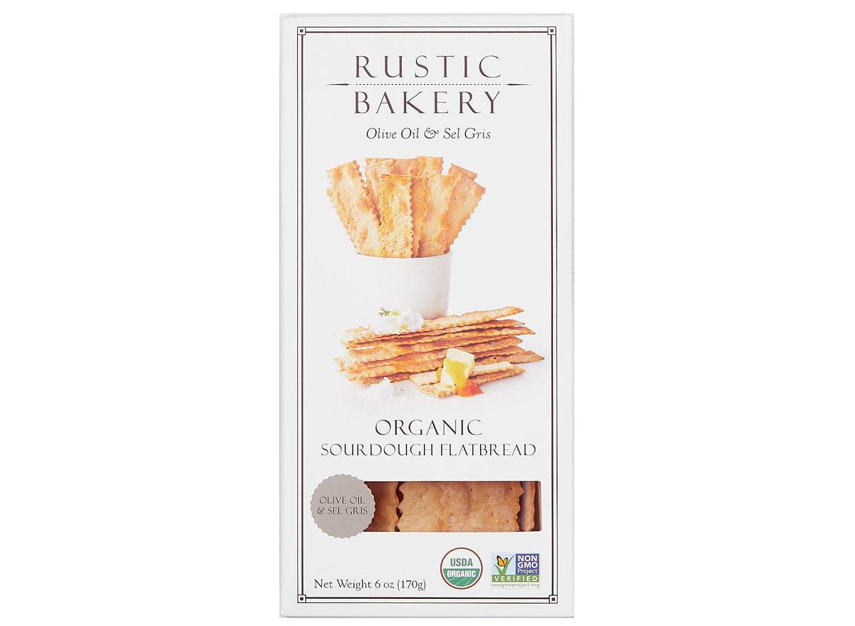 rustic bakery olive oil salt sourdough cracker