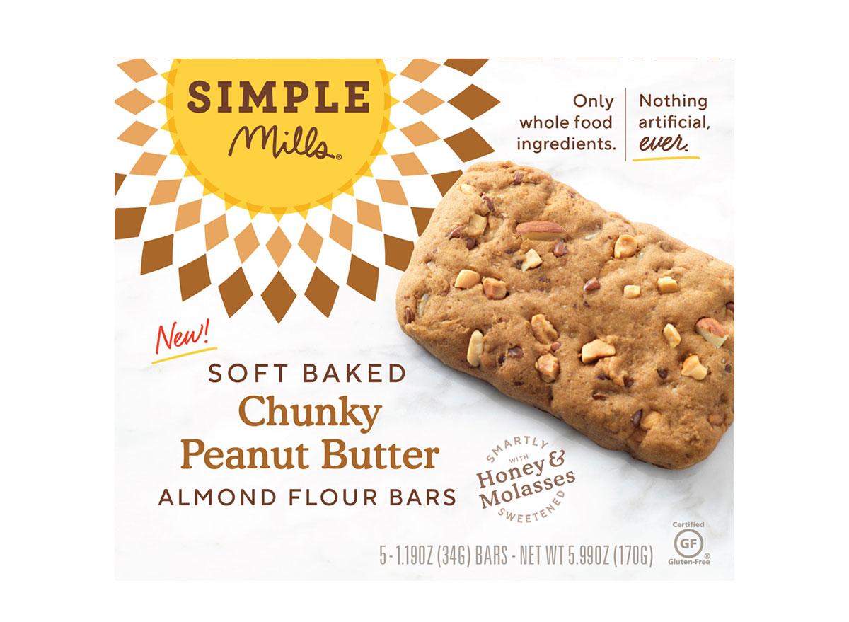 simple mills soft baked almond flour bars chunky peanut butter