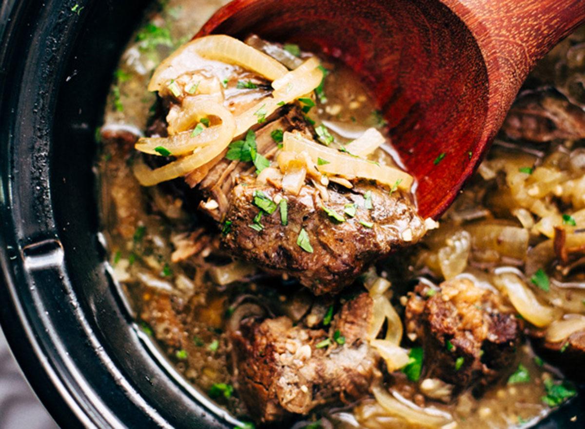 soul warming french onion pot roast