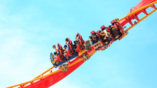 the superman roller coaster at six flags discovery kingdom in california