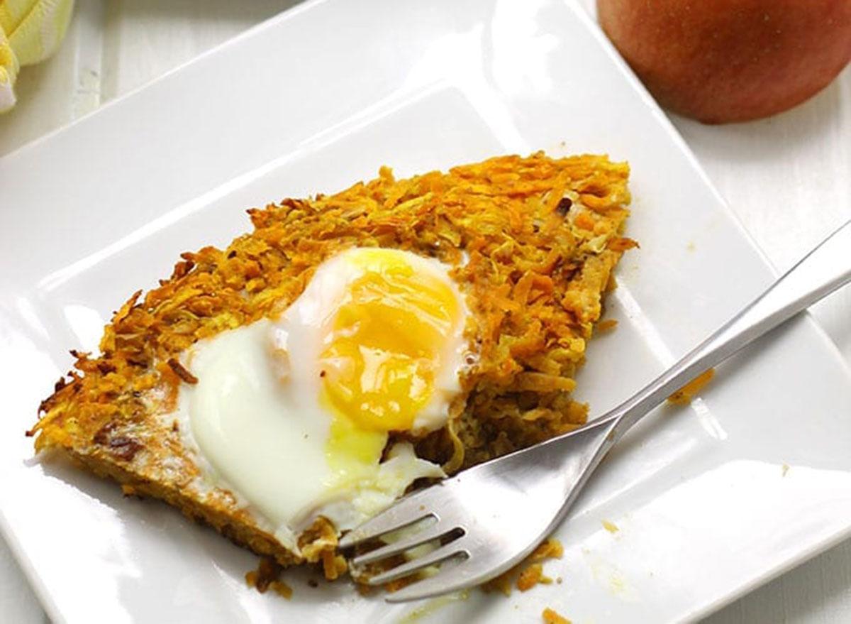 sweet potato apple latke cake