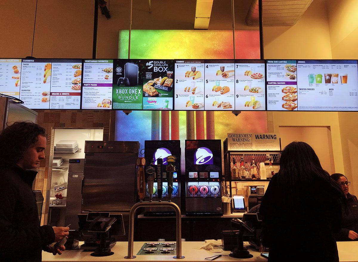 taco bell cantina counter