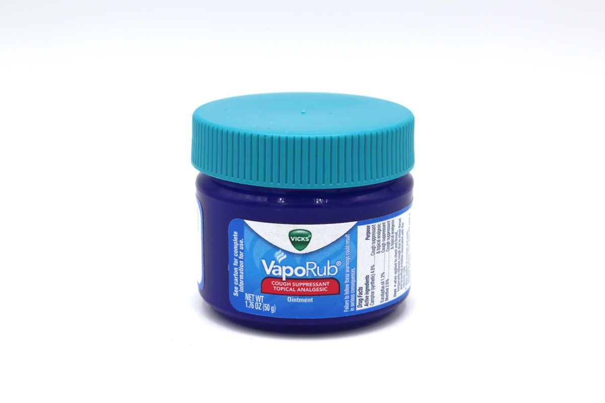 Vick's Vapor Rub, most commonly used for cold remedy