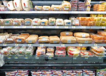 Prepared foods at Walgreens in a refrigerated case