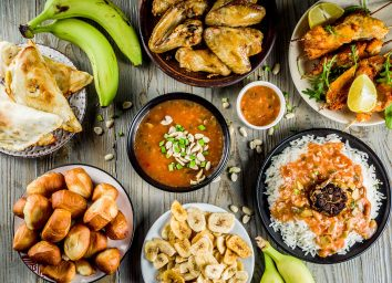 Table of traditional West African foods