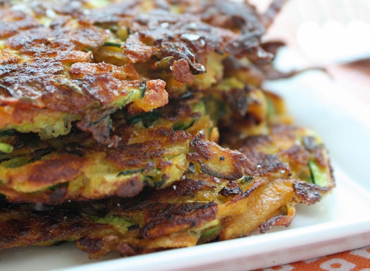 zucchini and sweet potato latkes