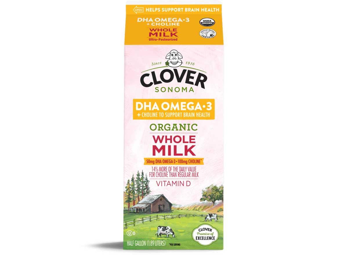 Clover sonoma organic omega 3 choline milk