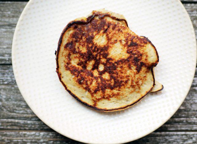 whole30 banana bread pancake on plate