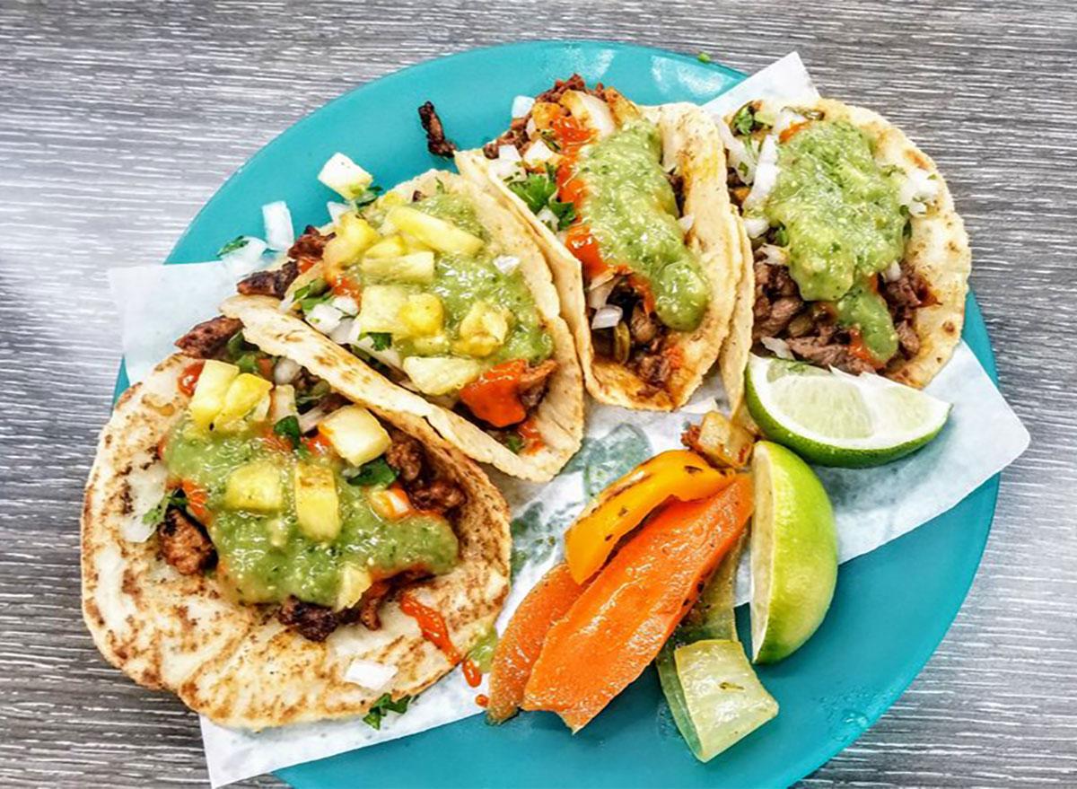 tacos from carmelos tacos in washington