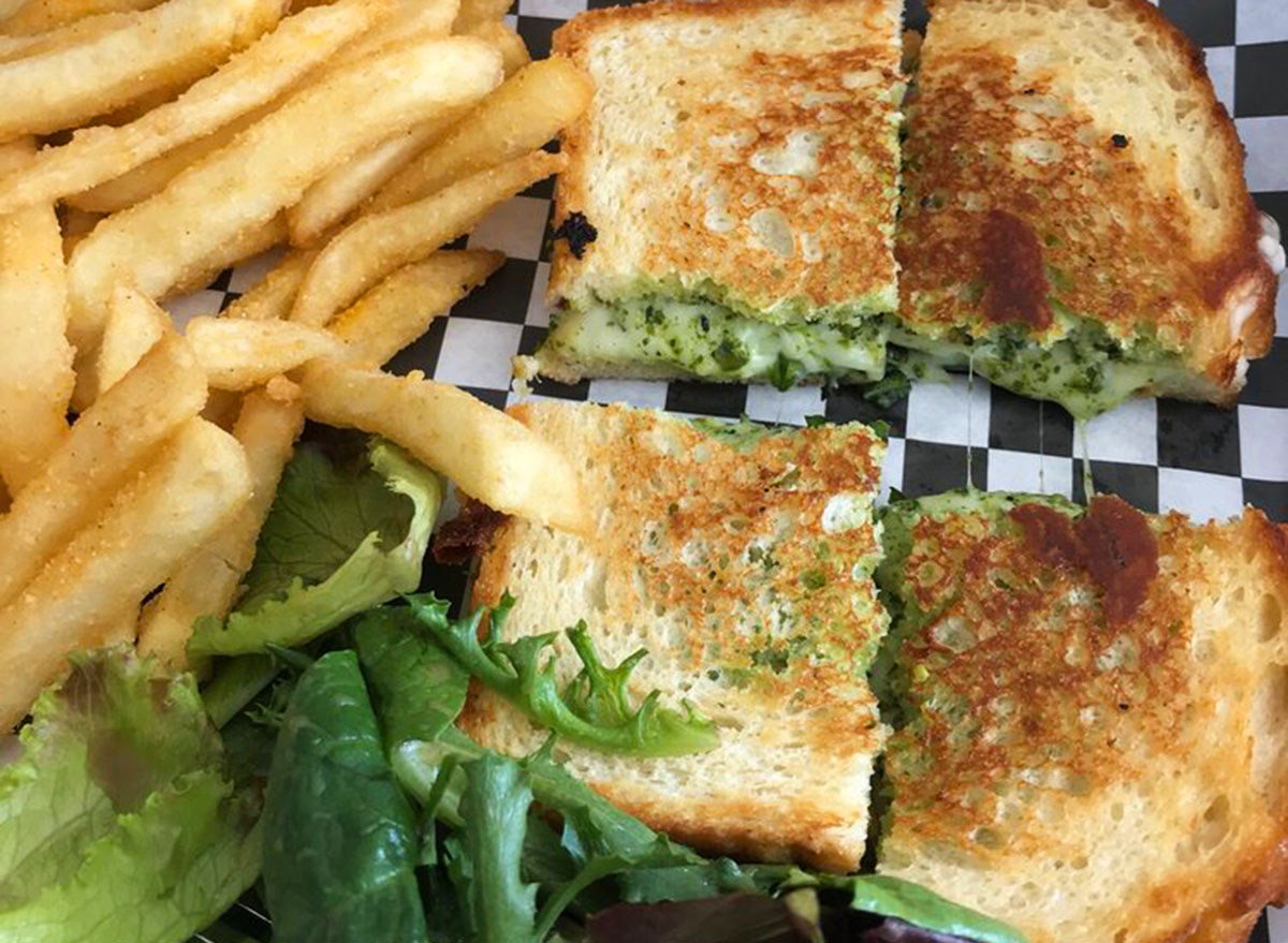 all square minnesota grilled cheese