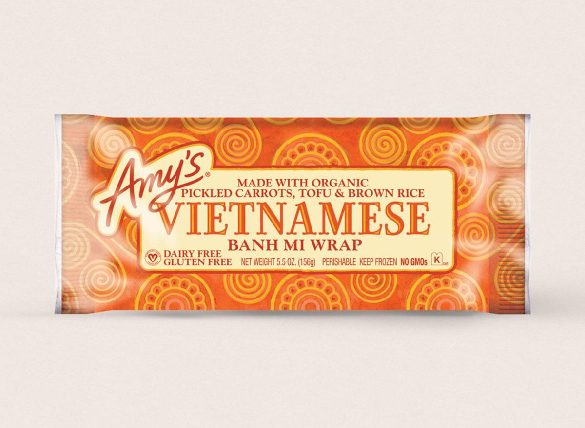 amys vietnamese banh mi wrap frozen meal