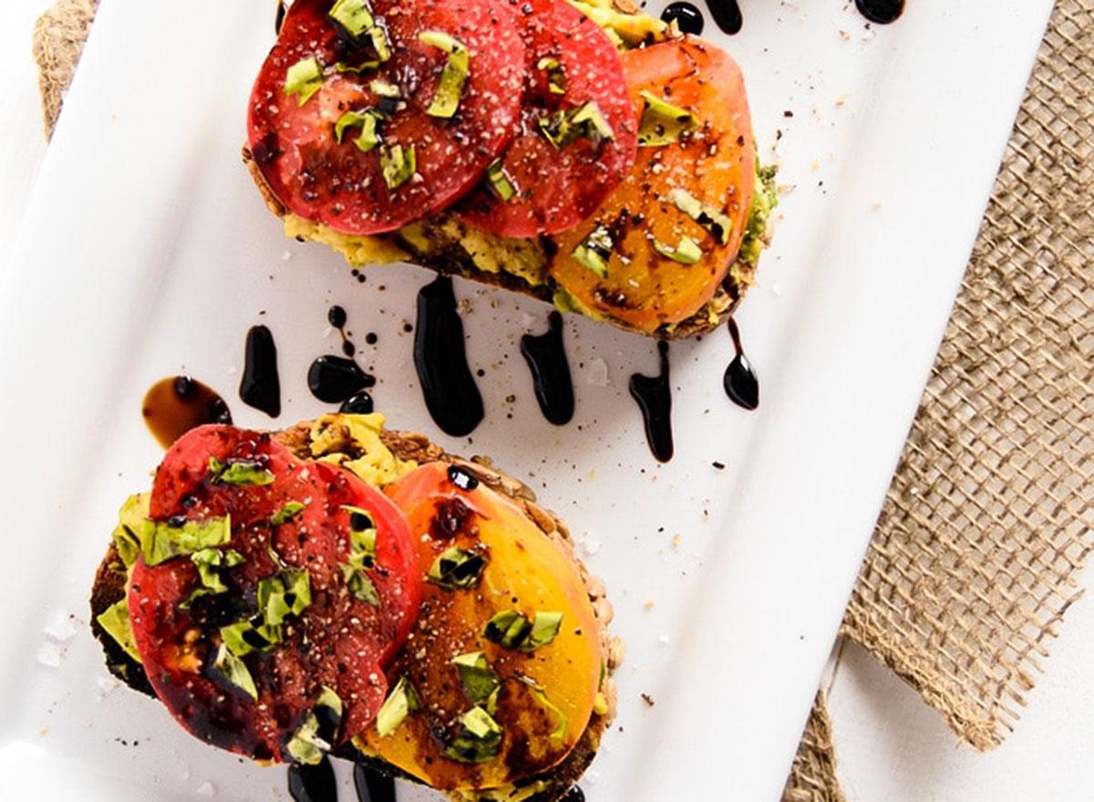 avocado and tomato toasts