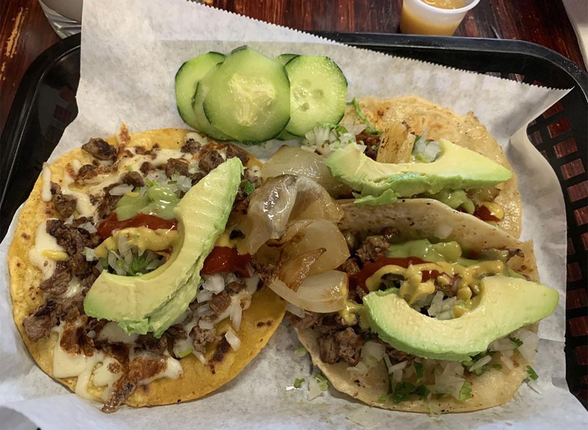bamba tacos with avocado