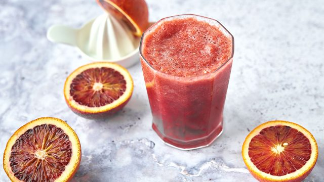 blood orange beet smoothie with oranges