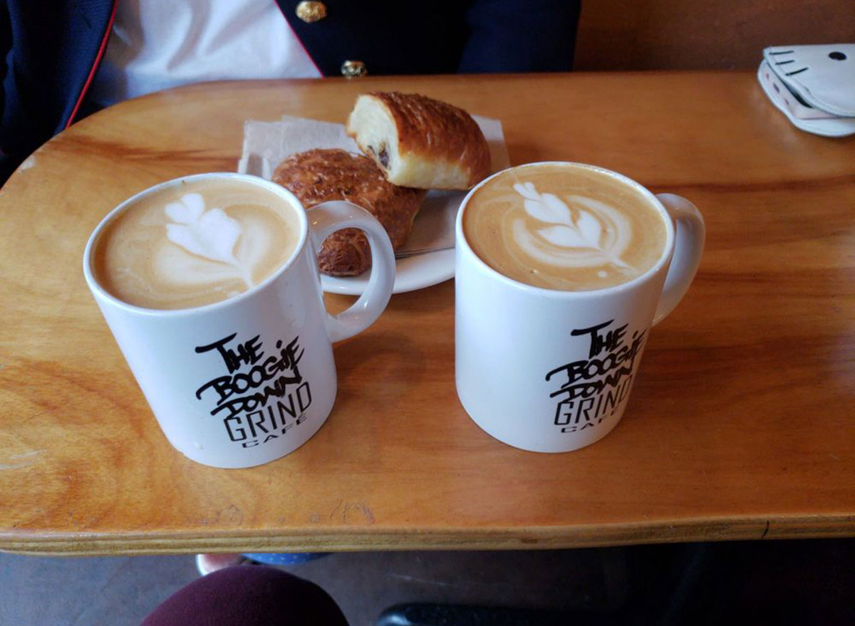 boogie down grind cafe bronx two coffees