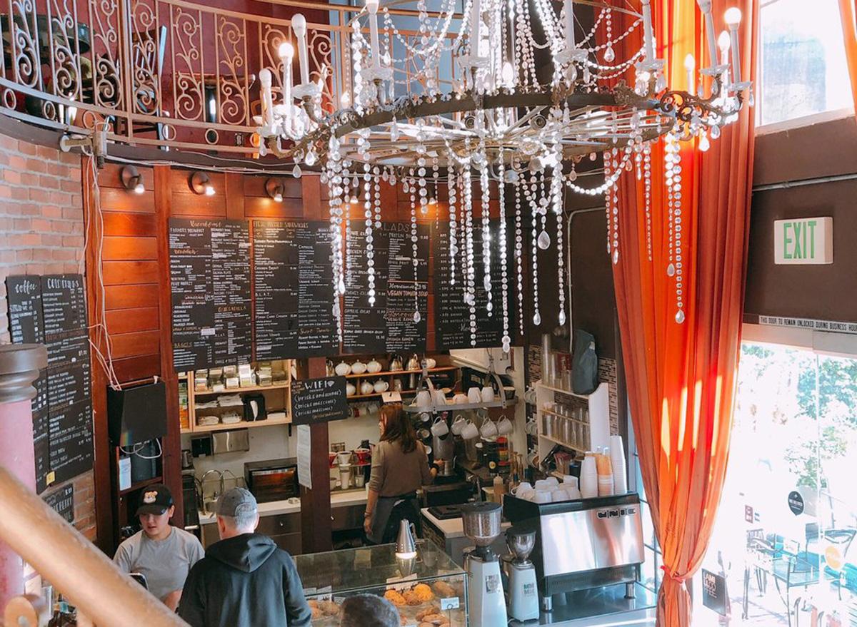 inside bricks and scones coffee shop in los angeles