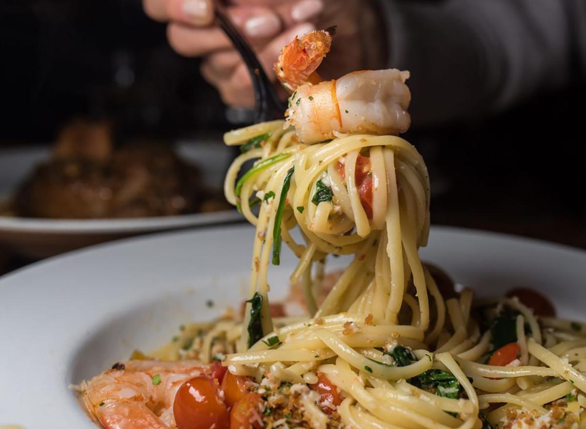shrimp scampi from buddy v ristorante in las vegas