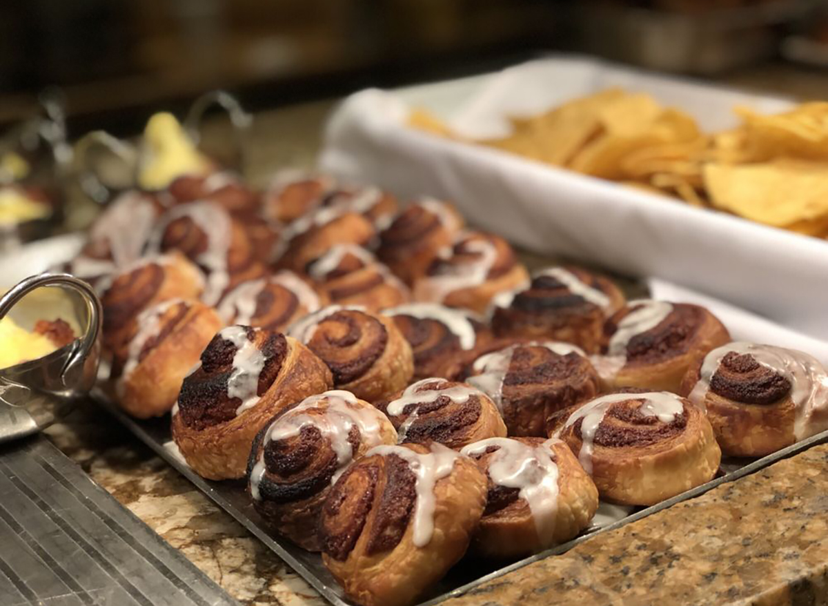 cinnamon rolls from buffet at the bellagio las vegas