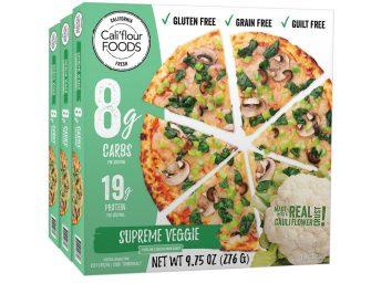 califlour food supreme veggie pizza