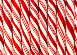 candy canes pattern up close