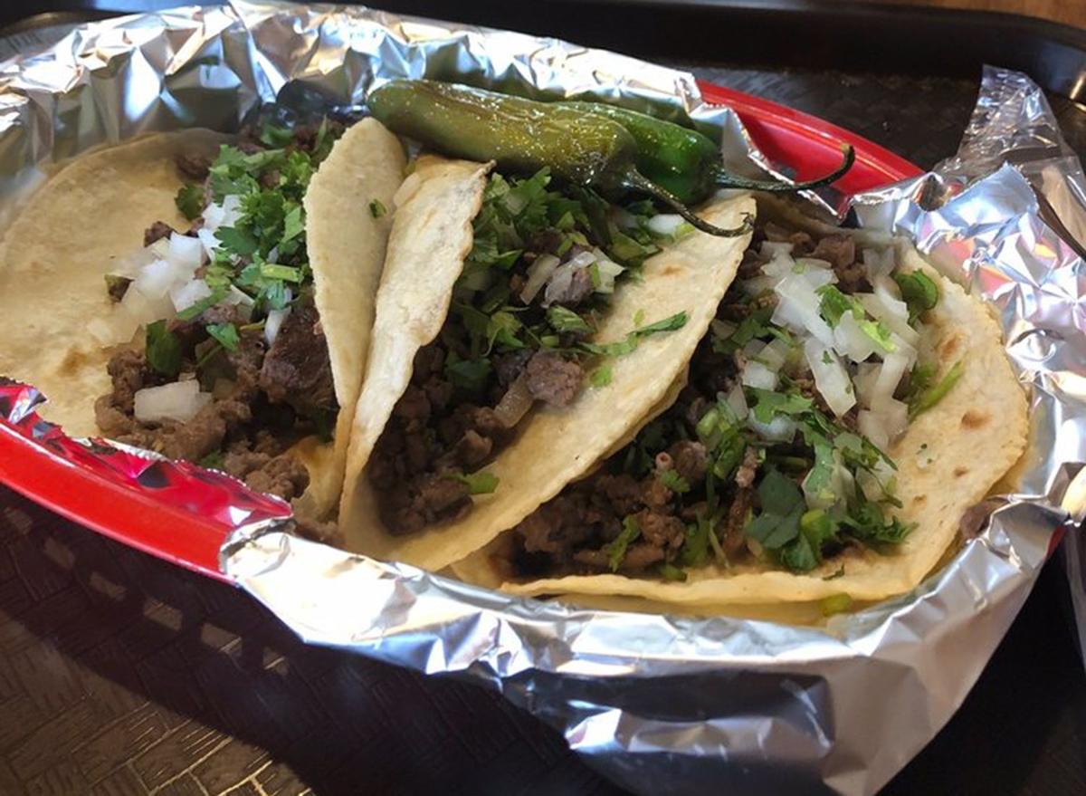 carne asada tacos at tacos nayarit