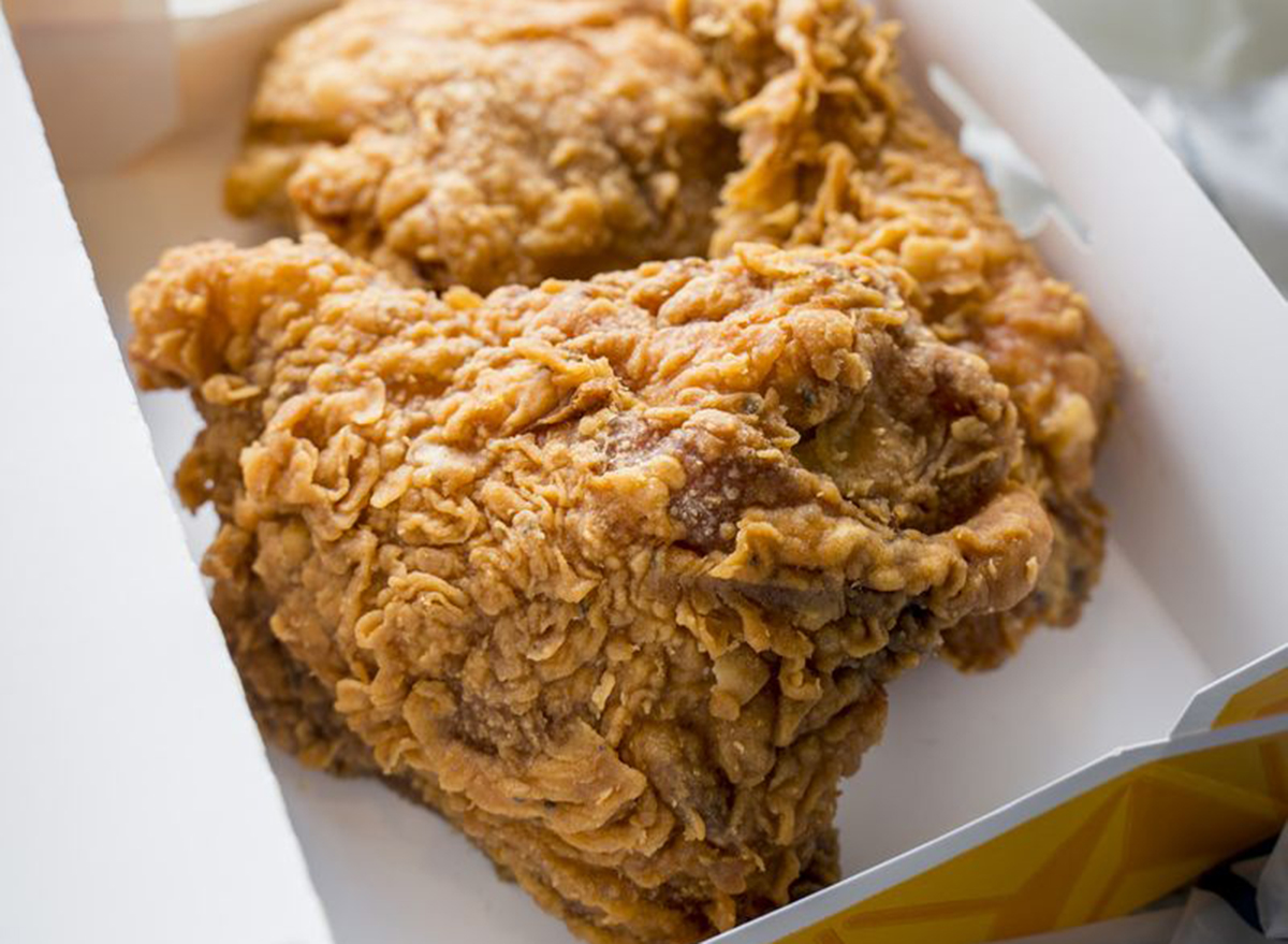 spicy chicken thigh from the churches
