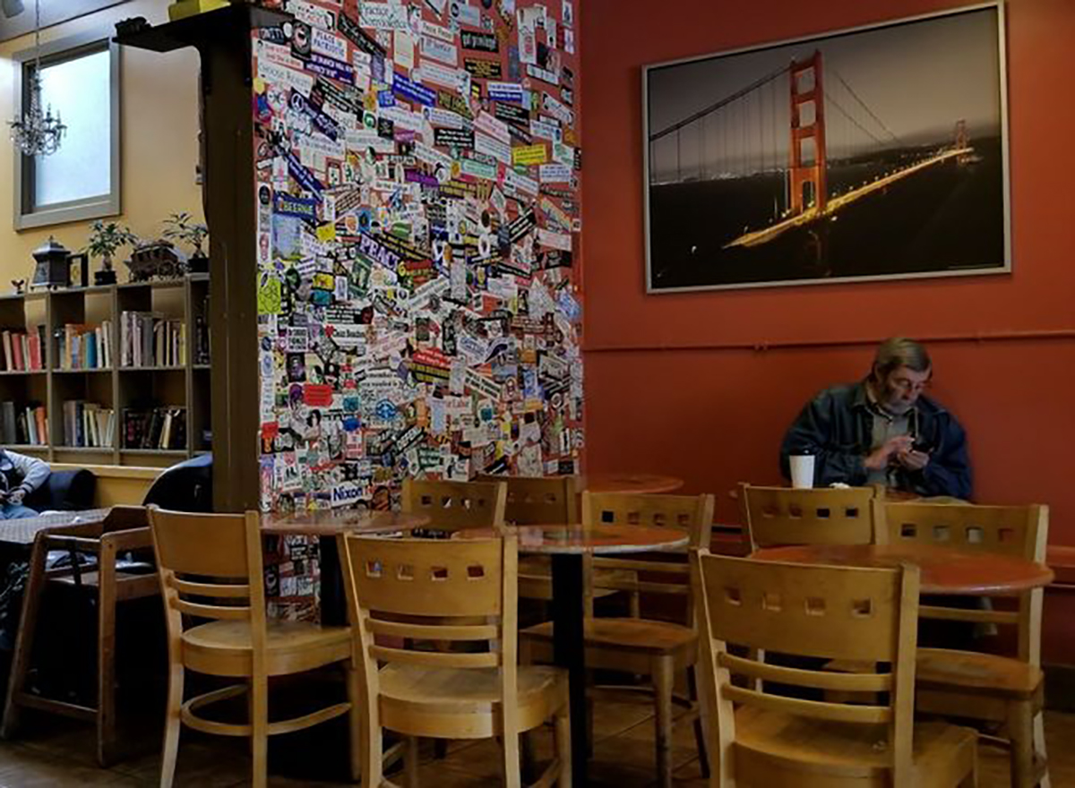 interior of coffee to the people in san francisco