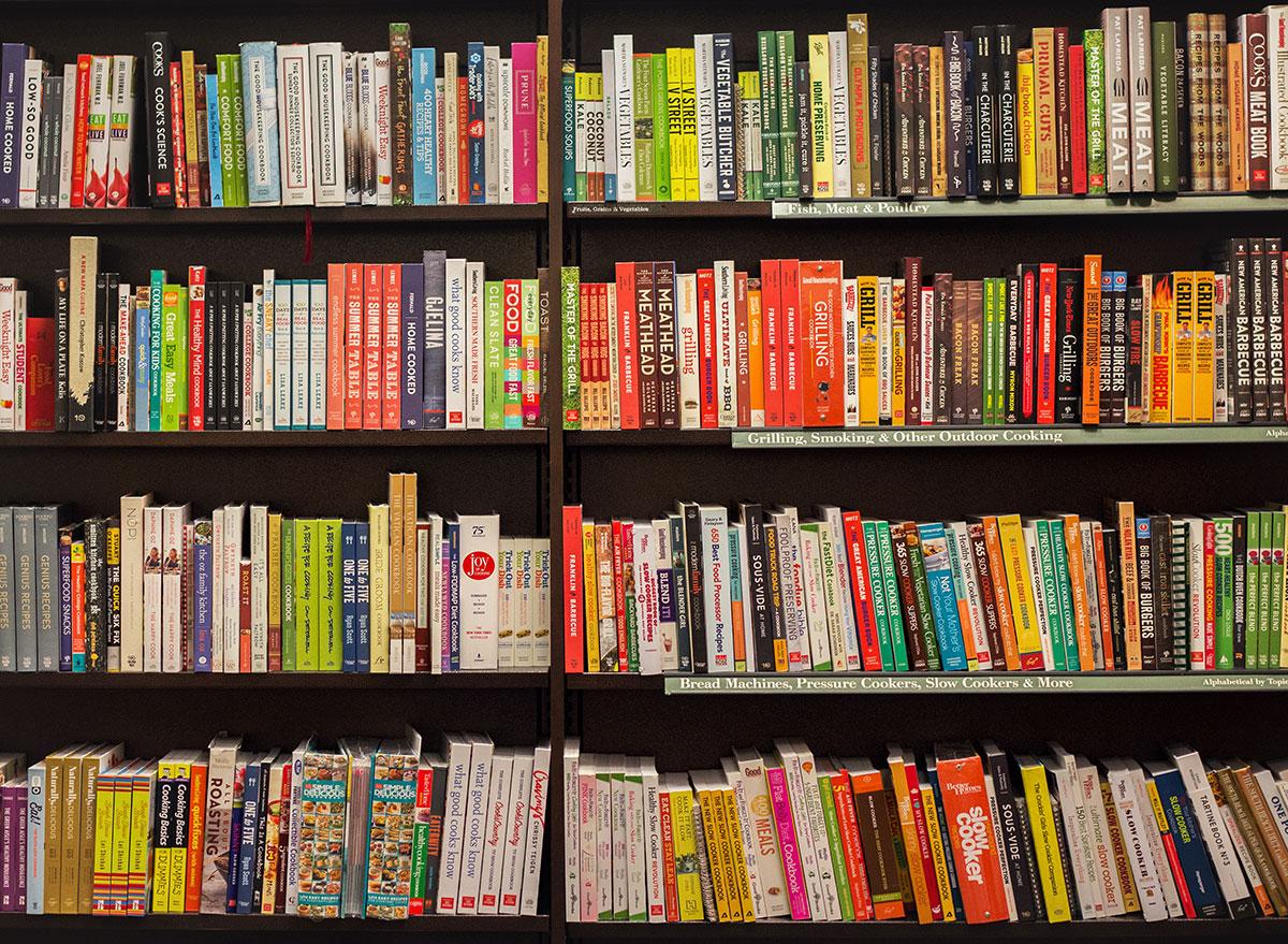 cookbooks shelf