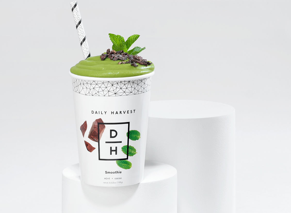 daily harvest mint and cacao smoothie
