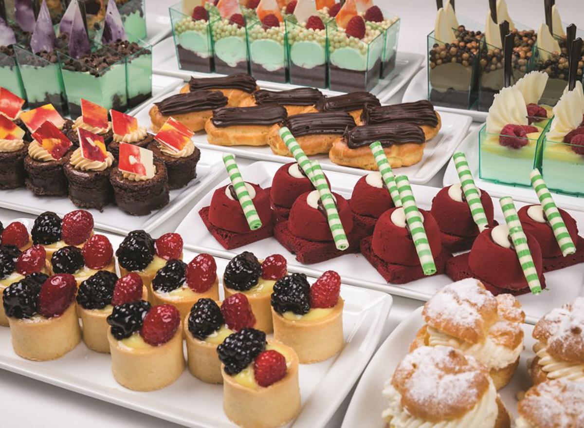dessert trays at luxor buffet in las vegas