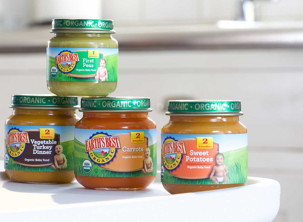 Earths best baby food stage 1 stage 2