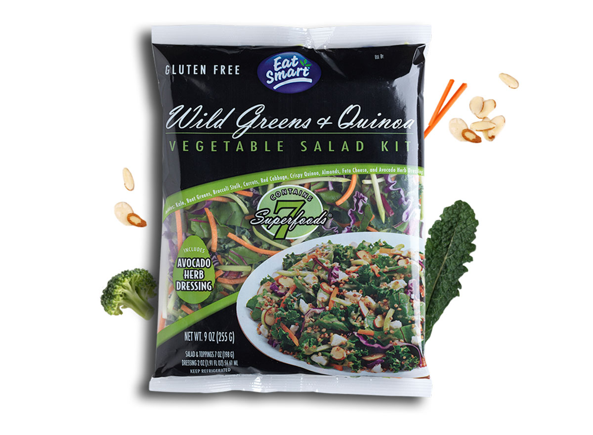 eat smart wild greens and quinoa