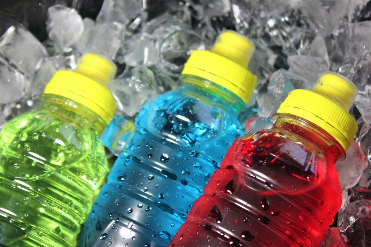 Bottles of sport drink electrolytes