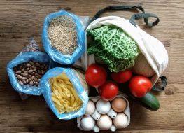 groceries in bags