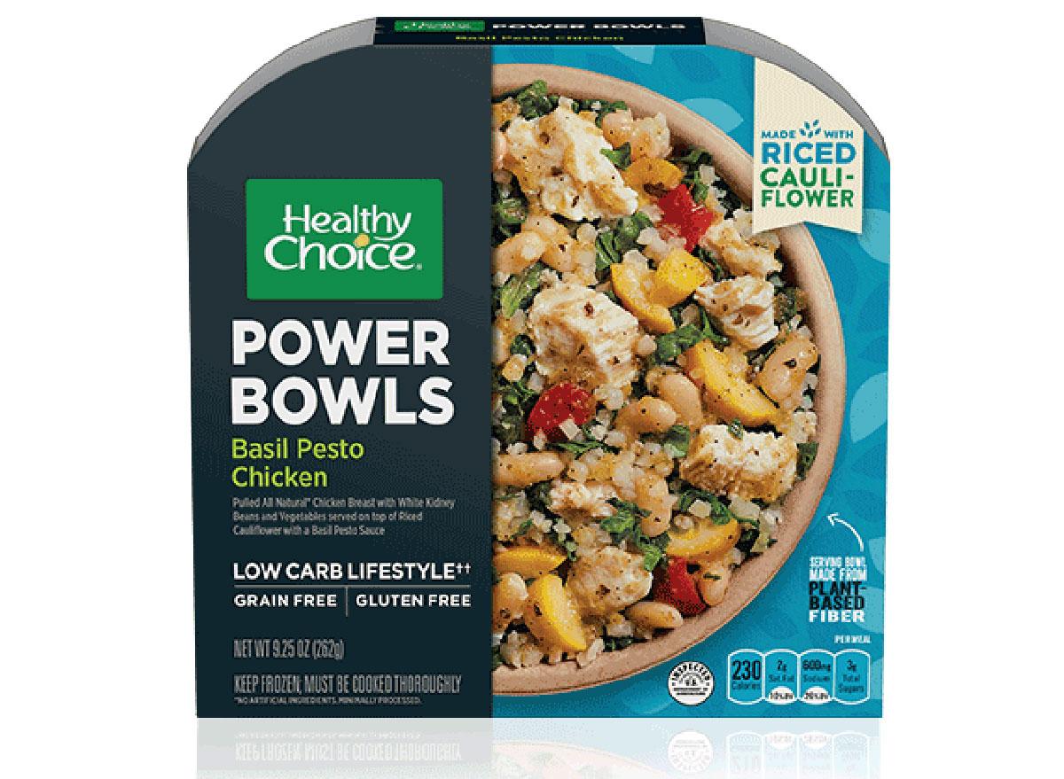 healthy choice basil pesto chicken frozen meal