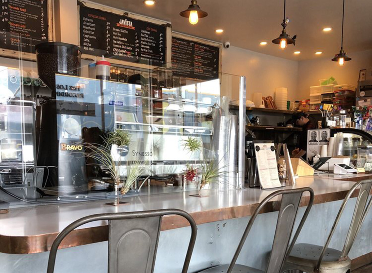 inside javitsa coffee shop in los angeles