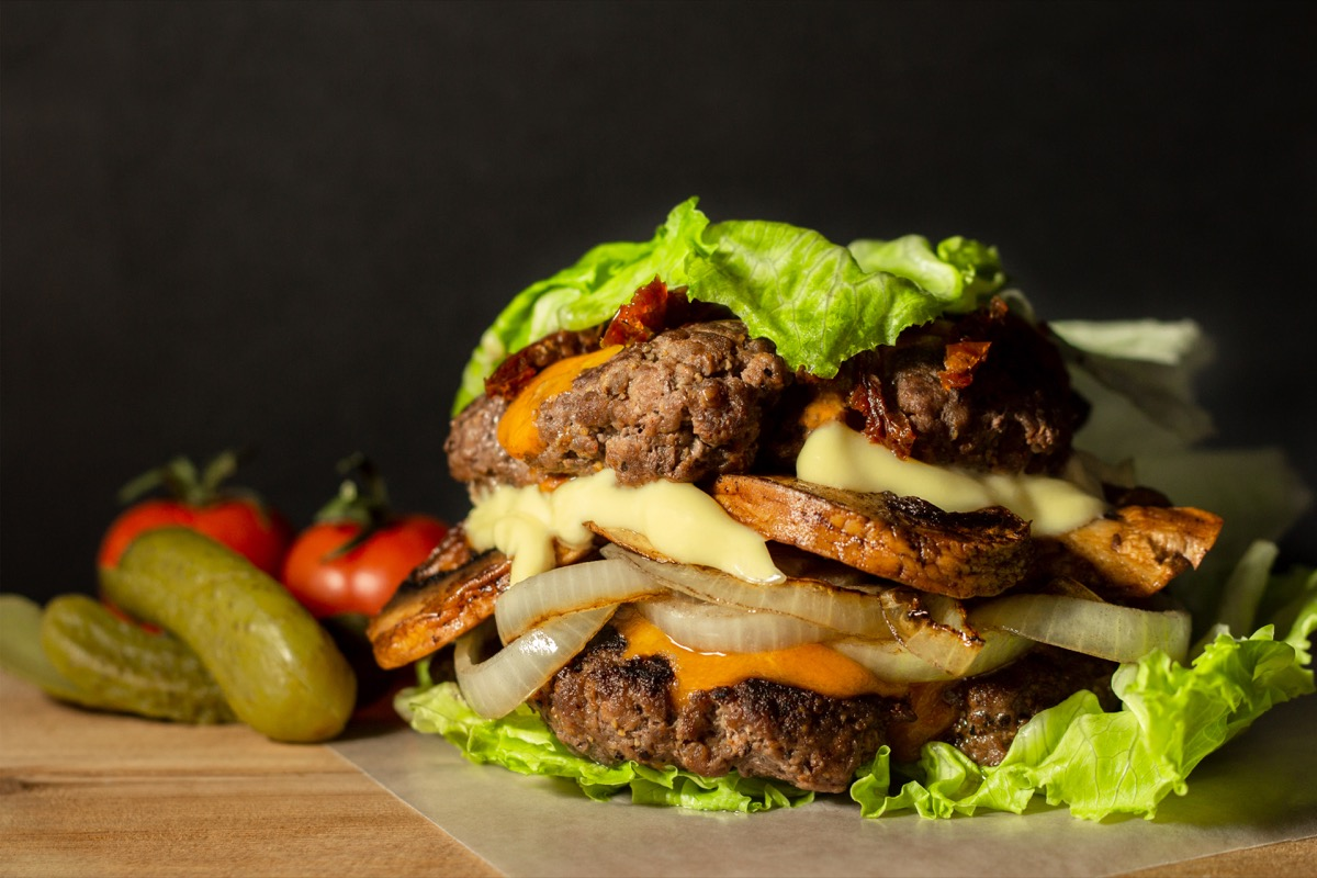 a keto lettuce burger with all the fixins