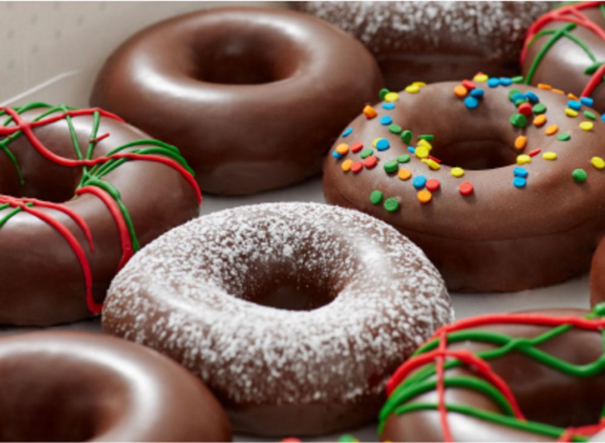 krispy kreme chocolate glazed wonderland dozen