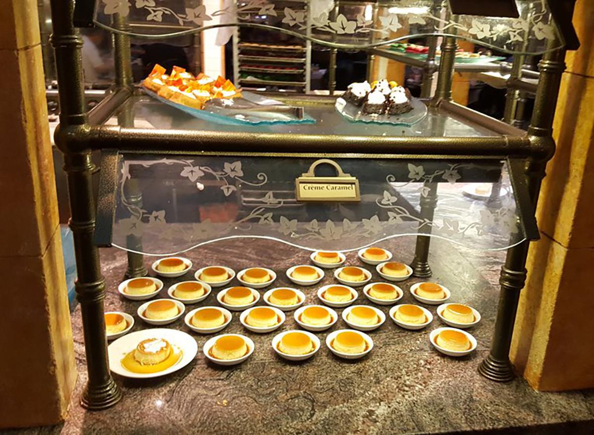dessert selection at le village buffet in las vegas