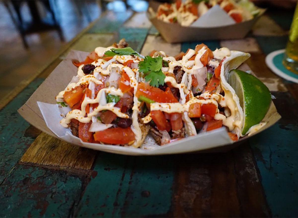 lechon pork tacos